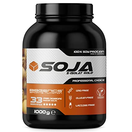Soja Isolate GOLD - (100% vegetariana de proteína de soja natural, aislado lactosa, proteína natural), 1000g chocolate