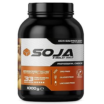 Soja Isolate GOLD - (100% vegetariana de proteína de soja natural, aislado lactosa, proteína natural), 1000g chocolate: Amazon.es: Salud y cuidado personal