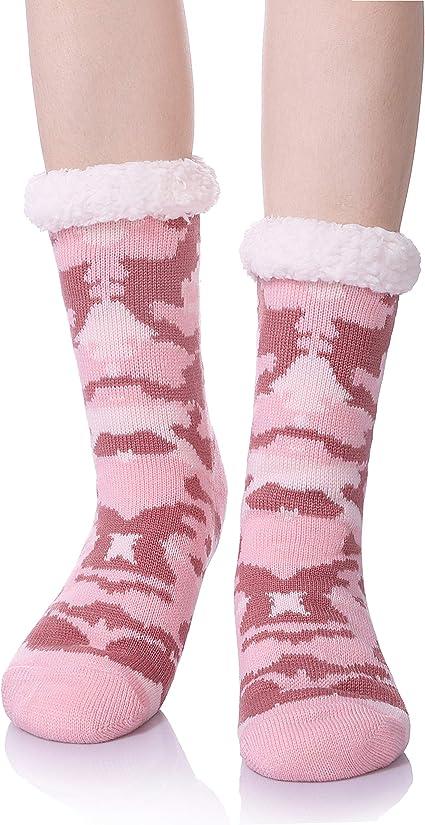 Womens//Ladies Christmas Themed /'HEAT MACHINE/' Warm and Cosy Winter Slipper Socks