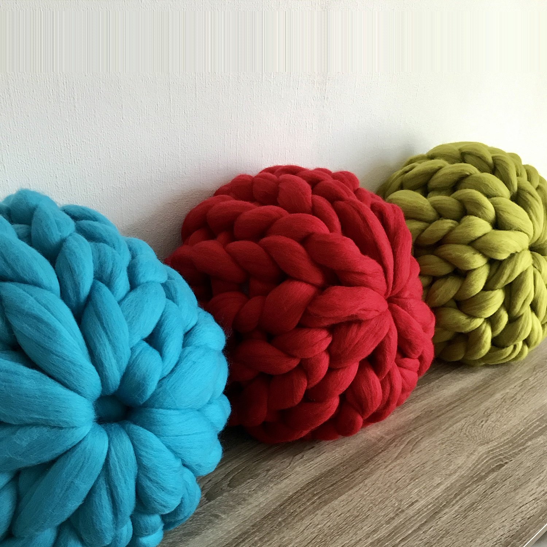 Amazon.com: eastsure Chunky Knit almohada para tejer manta ...