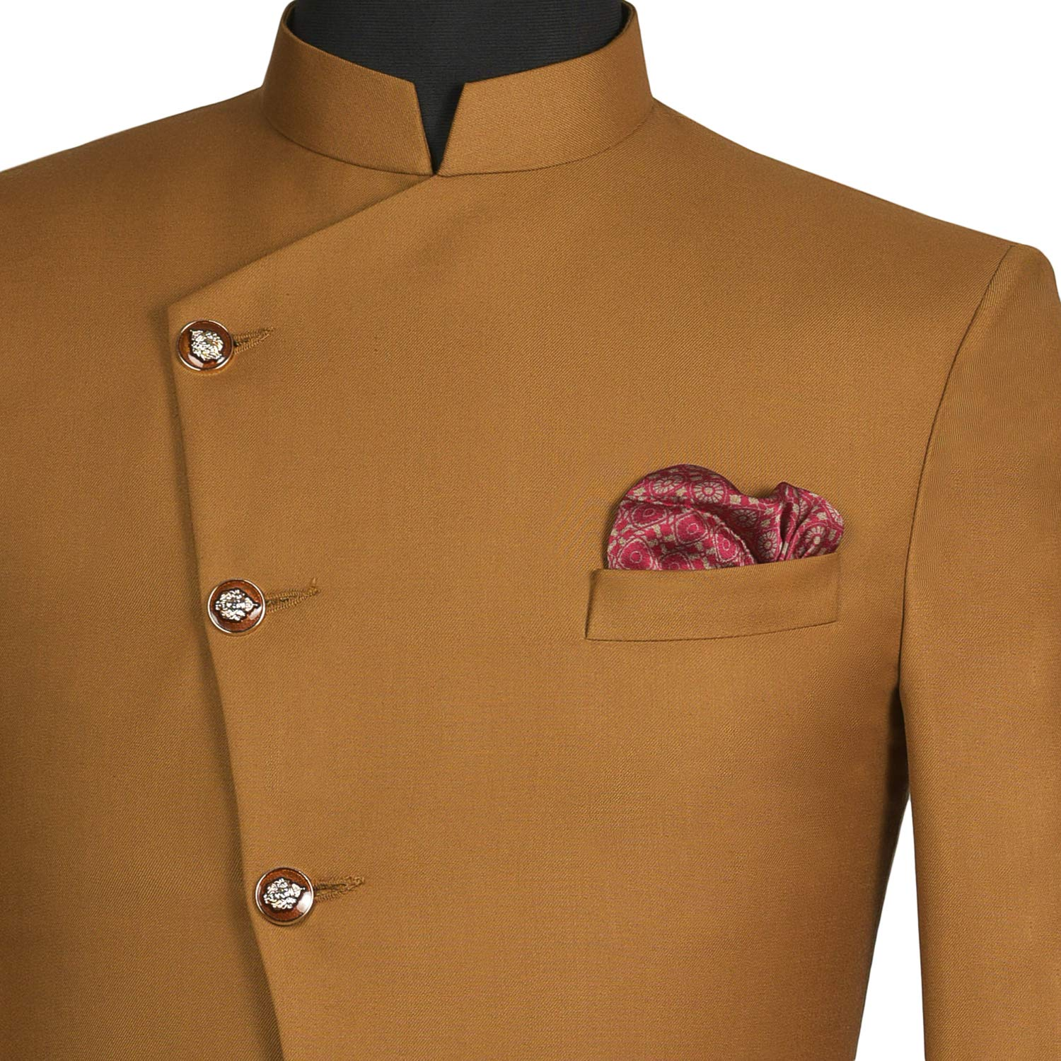 Chokore Wine Pink /& Beige color Silk Pocket Square IH81404/_70AB Indian At Heart line/_