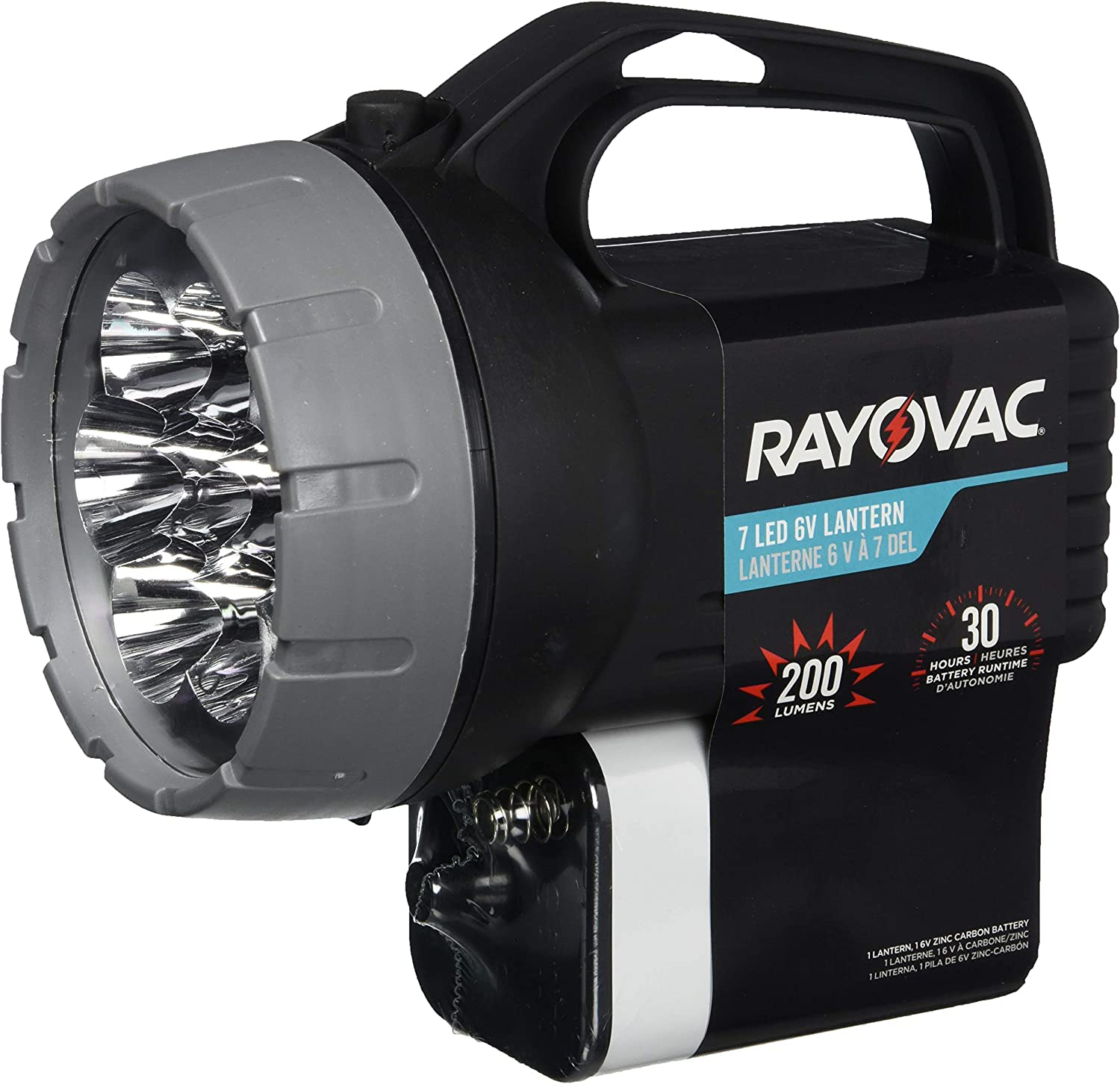 RAYOVAC Floating LED Lantern Flashlight, 6V Battery Included, Superb Battery Life, Floats For Easy Water Recovery, Emergency Light: Home Improvement