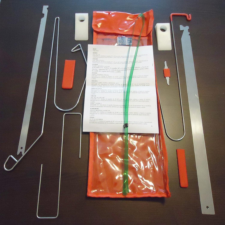 Kit de útiles para abrir puertas de vehiculos 11 piezas: Amazon.es: Bricolaje y herramientas