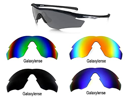 74ba892cd2 Amazon.com  Galaxy Replacement lenses For Oakley M2 Frame Polarized Black Blue Green Red   Clothing