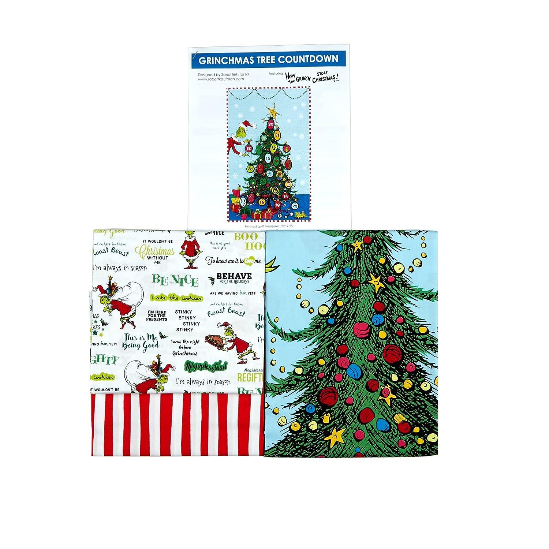 Robert Kaufman Kaufman How The Grinch Grinchmas Tree Countdown Quilt Kit Multi Kaufman Fabrics 0576308