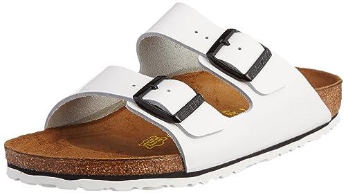 c9b914982ad1 Birkenstock Women s Arizona Leather Sandals150  Narrow Width Patent UK 4.5  White