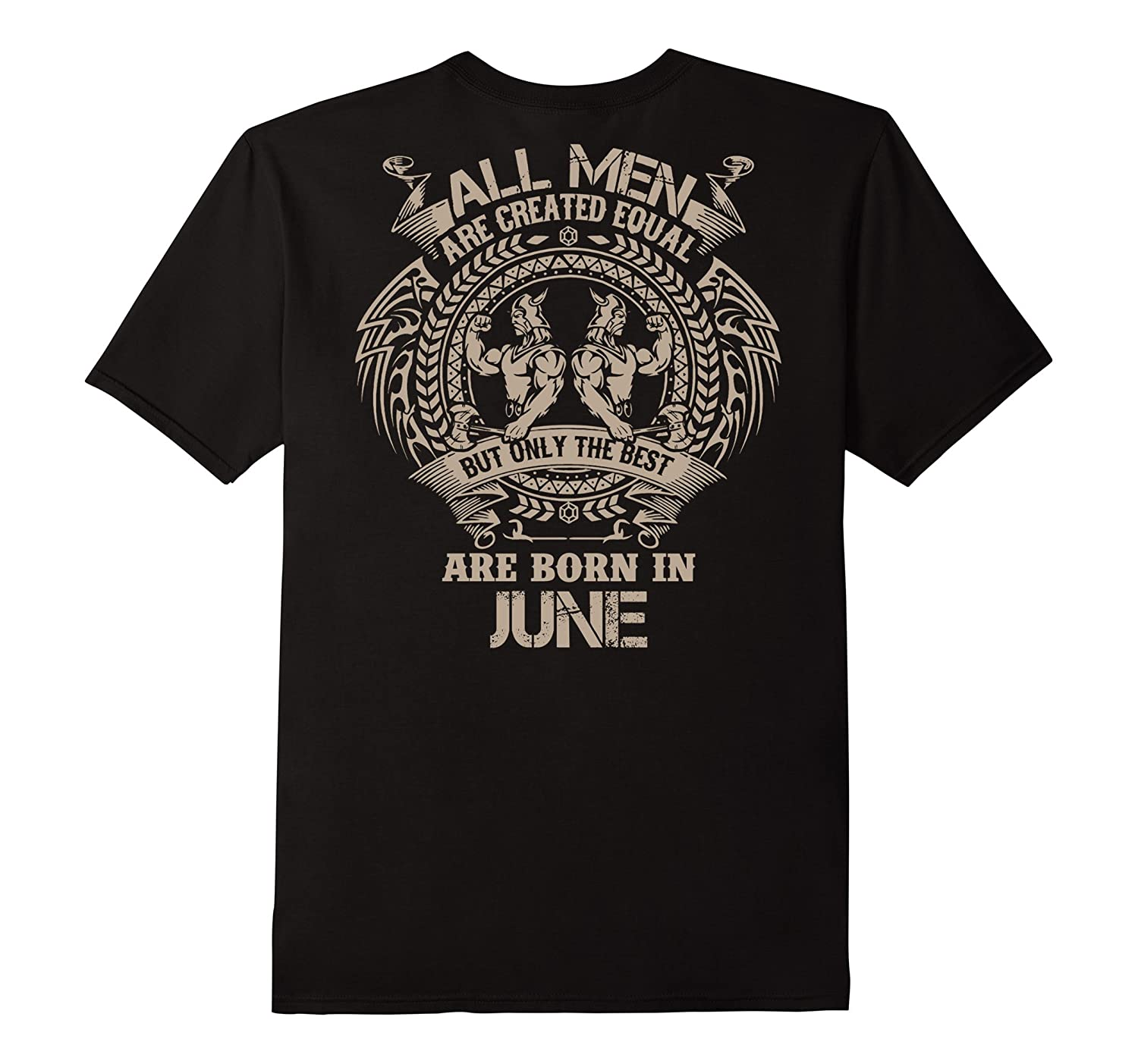 Zodiac All Men Are born in June Gemini T-Shirt-TH