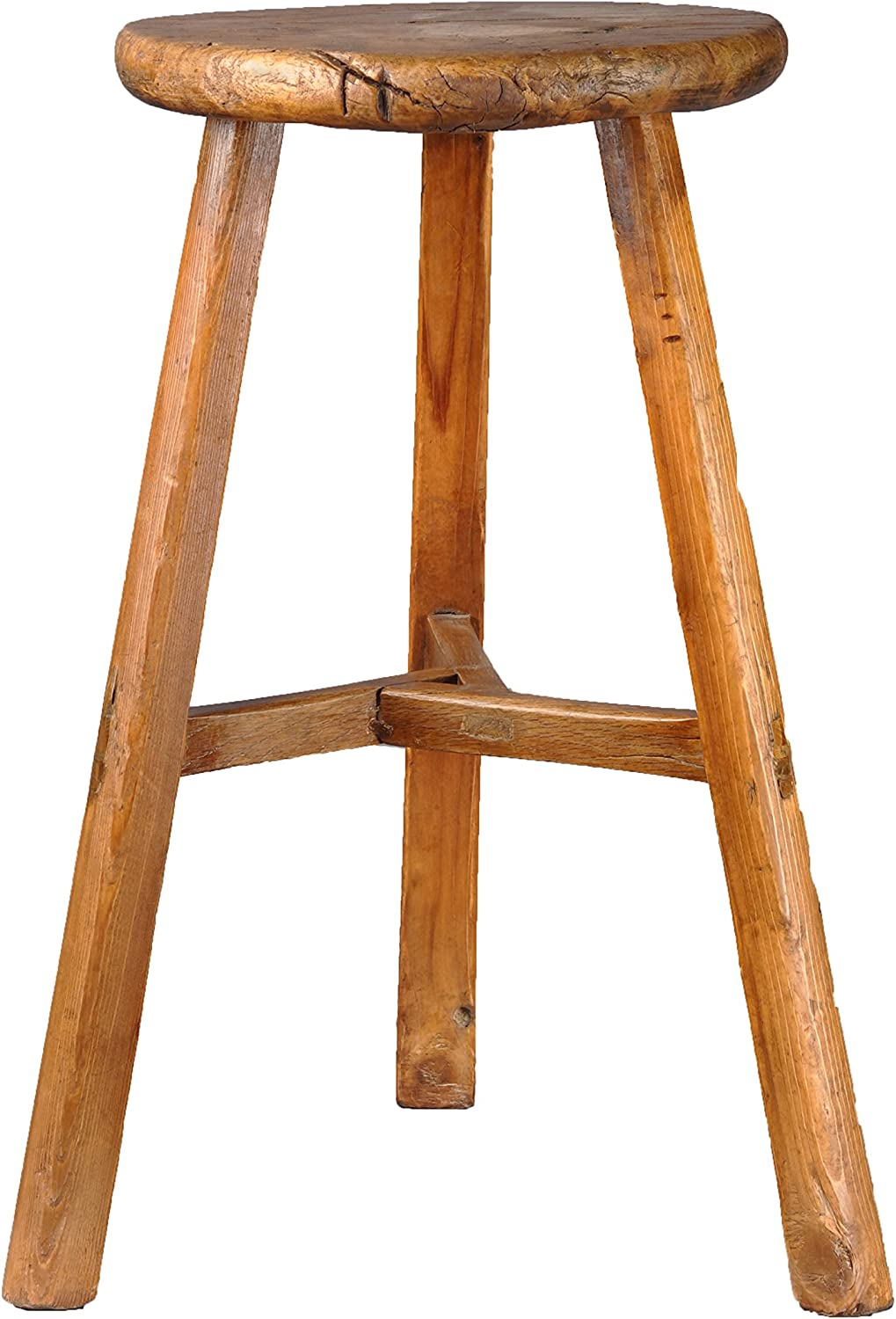 Porthos Home Vintage Country Stool, Natural