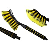 SUPER SOFT, ANGLED LARGE CAR BRUSH THAT ATTACHES TO A HOSE WITH SUPER SOFT GRIP HANDLE