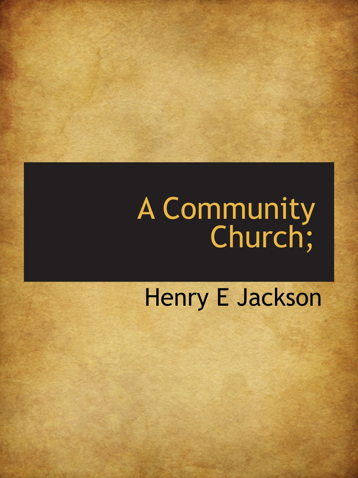 Download A Community Church; pdf epub