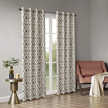amazon com grommet curtains for living room ankara print taupe