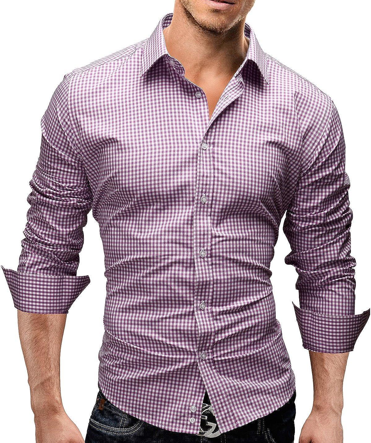 Slim Fit 5 Colori Taglia S Disegno Speciale XXL Modell 41 Merish Camicia Uomo a Scacchi
