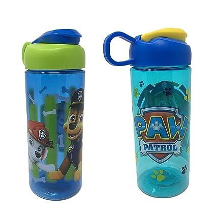 Zak Designs Paw Patrol Water Bottle Bundle - BPA Free 16.5 oz Boys & Girls -
