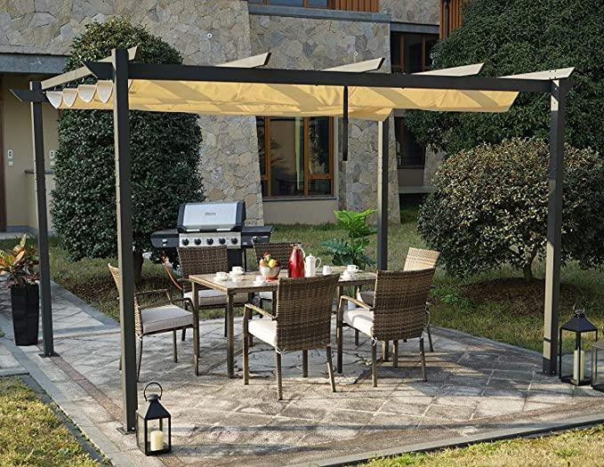 Kozyard Morgan Outdoor Pergola UV Resistant Fabric - Best For Fire Resistance