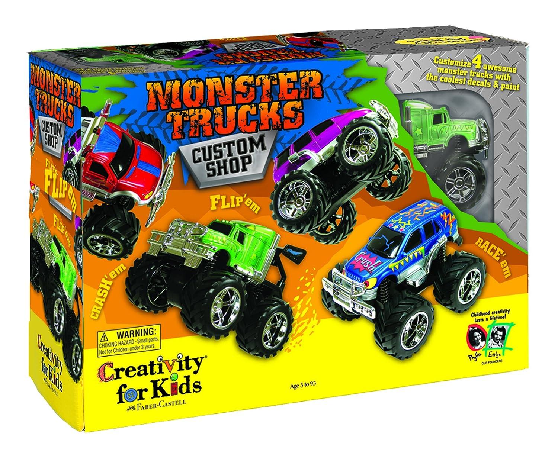 amazon com creativity for kids monster trucks kit custom shop