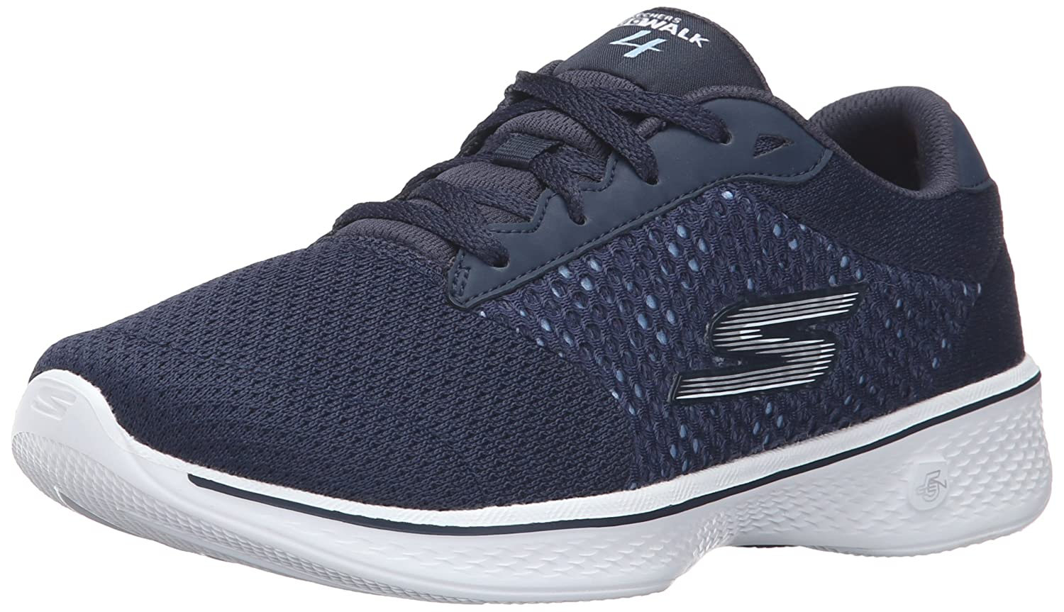 Skechers Performance Women's Go Walk 4 Exceed Lace-up Sneaker B01AH00VAG 7.5 B(M) US|Navy/White