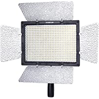 Yongnuo YN600 Pro LED Video Light 5500K dimmable brightness with external power supply for DSLR camcorder cameras