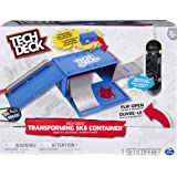 Tech Deck, Transforming SK8 Container Pro Modular Skatepark and Board, for Ages 6 and Up (Style May Vary), Multicolor