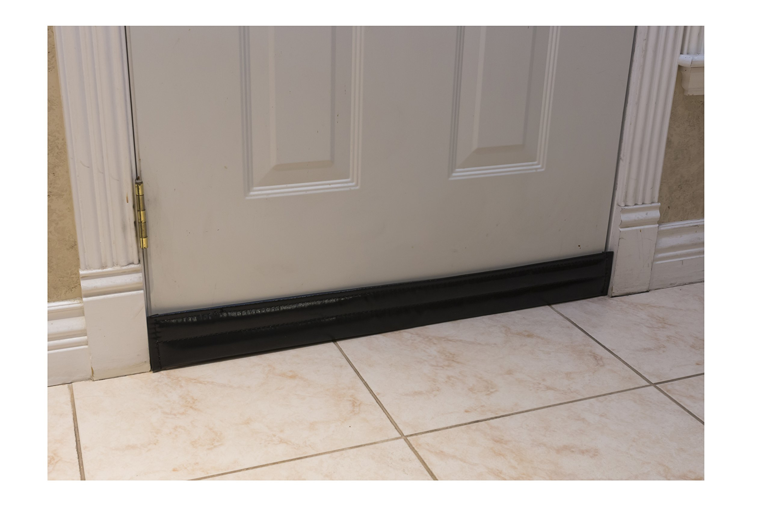 Soundproof Door Pad. Stop Sound, drafts and Reduce Heat Loss Through Gaps Along Bottom, top or Sides of Door. for Doors up to 36 inches Wide and Gaps up to 2.5 inches.