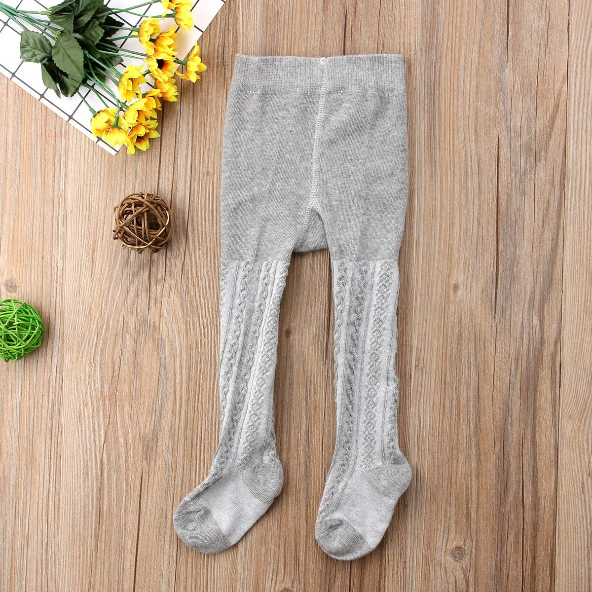 WANGSAURA Baby-M/ädchen Strumpfhose 3 Paar Set Cable Warme Leggings Kinderstrumpfhose