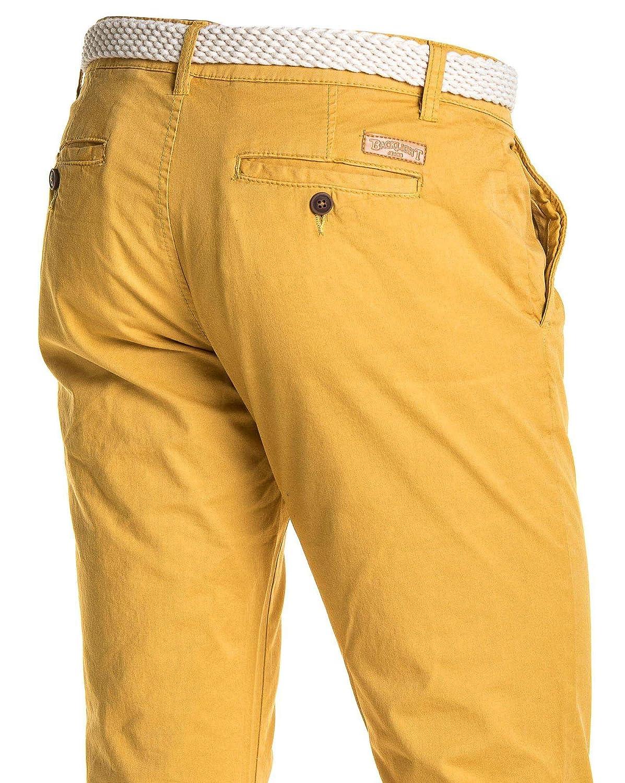 8d96eb2aea994 BLZ Jeans - Pantalon Chino 5 Poches Homme Moutarde - Couleur: Jaune ...
