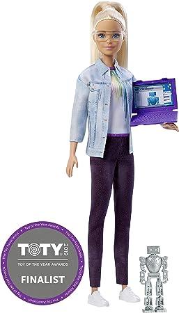 Amazon.es: Barbie Quiero Ser ingeniera robótica, muñeca rubia con ...
