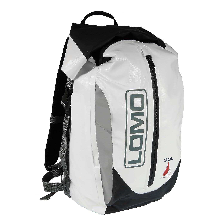 Lomo, wasserdichter Rucksack mit 30 Liter Fassungsvermö gen, Dry-Bag-Packsack, Weiß