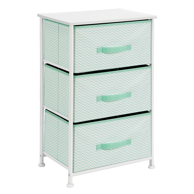 Amazon.com: mDesign Fabric 3-Drawer Dresser and Storage Organizer ...
