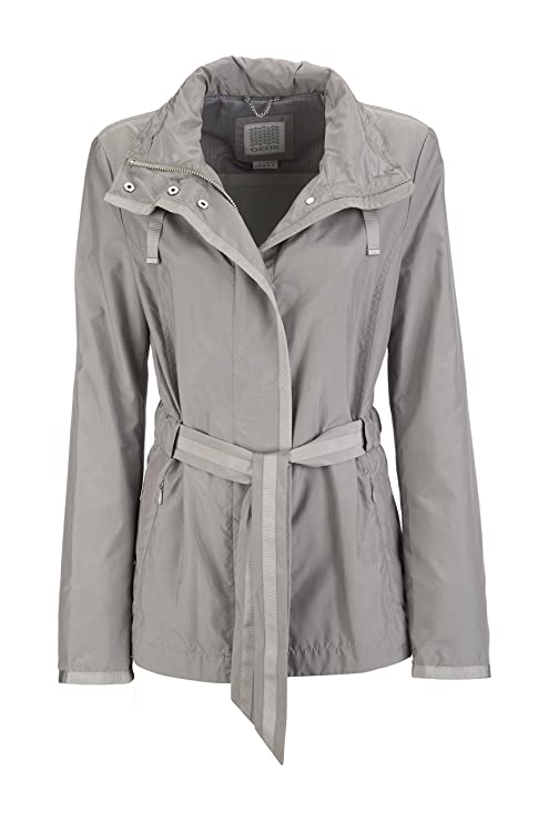 Blouson Grau light taille Fabricant Jacket F1136 Grey Geox Femme Woman 48 44 BFUH5qxw