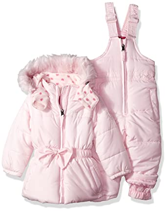 551be199af20 Amazon.com  Weatherproof Baby Girls  Snow Suit (More Styles ...