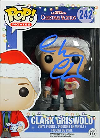 chevy chase national lampoons christmas vacation signed funko pop figure bas