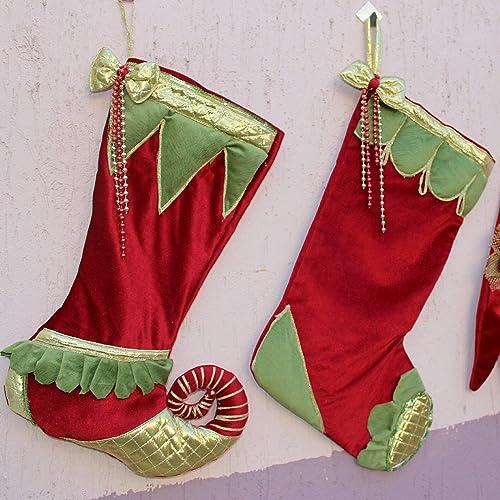 luxury christmas stockings velvet christmas stocking handmade christmas stockings personalized christmas - Handmade Christmas Stockings
