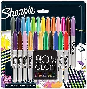 Sharpie - Rotuladores permanentes, punta fina, colores surtidos estándares, paquete de 24