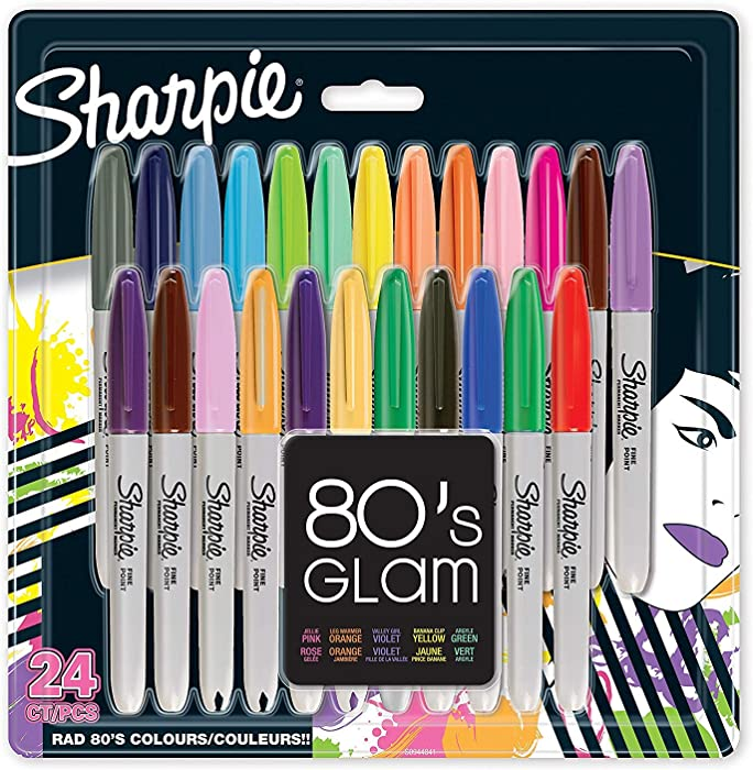Los 10 Sharpie Oil Based Paint Markers