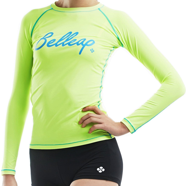 新しいサーフサマービーチラッシュガードレディース長袖トップSwimwear水着 Medium R0511/Neon Green B00X7V18XW