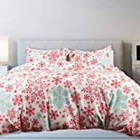 QE Home- Holiday Duvet Cover Set - Snow Candy