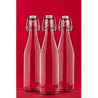 2-6 bottiglie di vetro vuote 1000 ml bottiglie di succo con tappo 1 litro. Ideale per il riempimento liquidi, come i liquori vino succhi di olio aceto, ecc di slkfactory