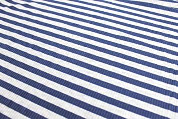 Striped 4x2 Ribbed Thermal Stretch Knit Fabric