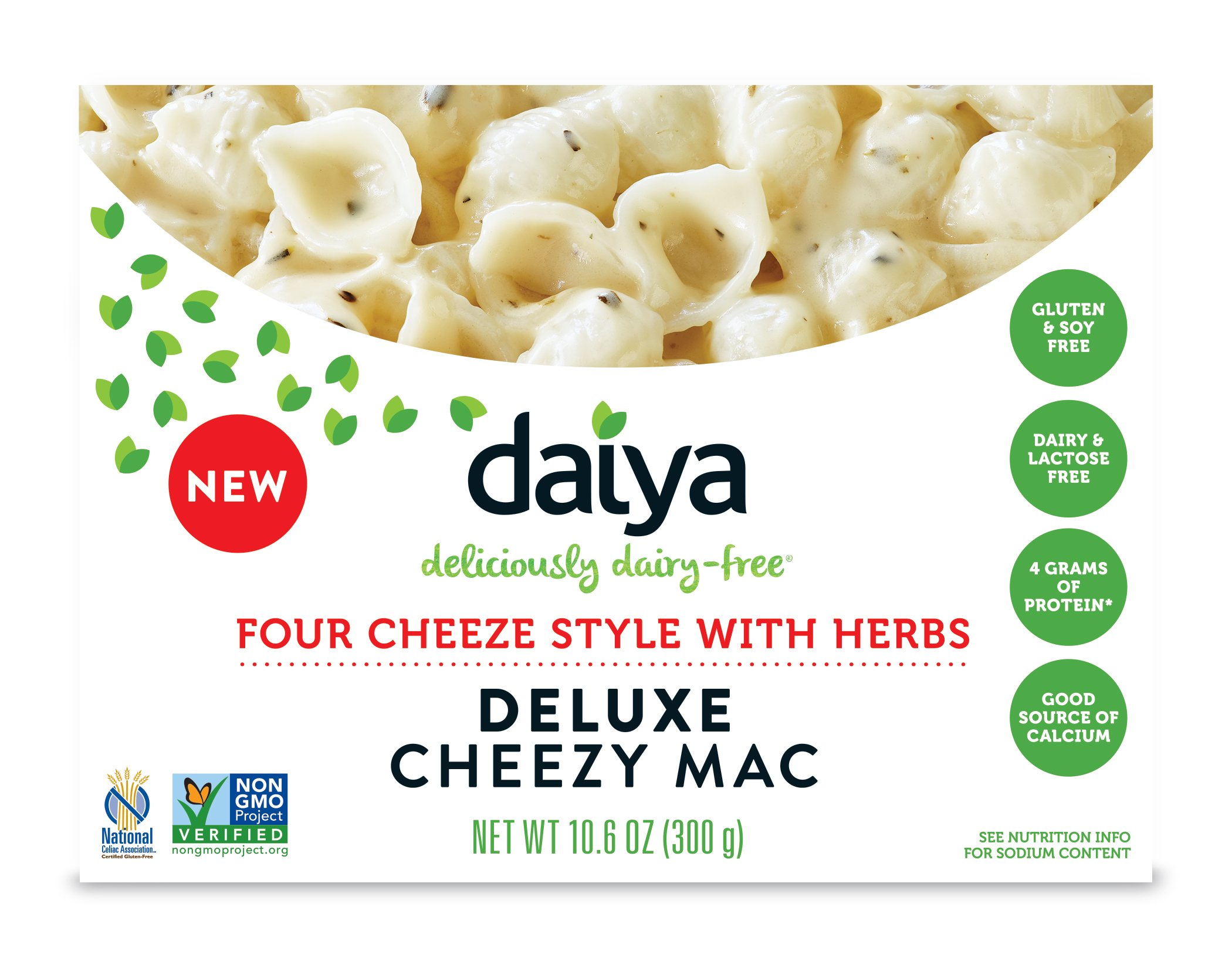 Daiya Cheezy Mac, Four Cheeze Style with Herbs :: Rich & Creamy Plant-Based Mac & Cheese :: Deliciously Dairy Free, Vegan, Gluten Free, Soy Free :: With Gluten Free Noodles, 10.6 Oz. Box (8 Pack) by Daiya