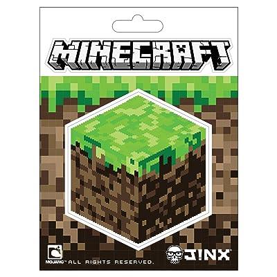 JINX Minecraft Dirt Block Sticker, Multi-Colored, 2 Multi-Size Stickers: Home & Kitchen