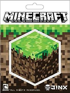 JINX Minecraft Dirt Block Sticker, Multi-Colored, 2 Multi-Size Stickers