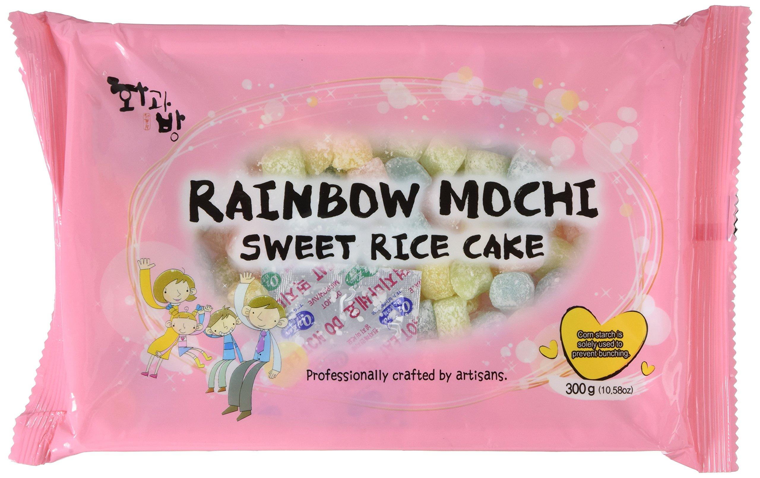 Mochi Sweet Rice Cakes MINI Sweet Rice Cake - Rainbow 300G 10.58oz by BobaStore
