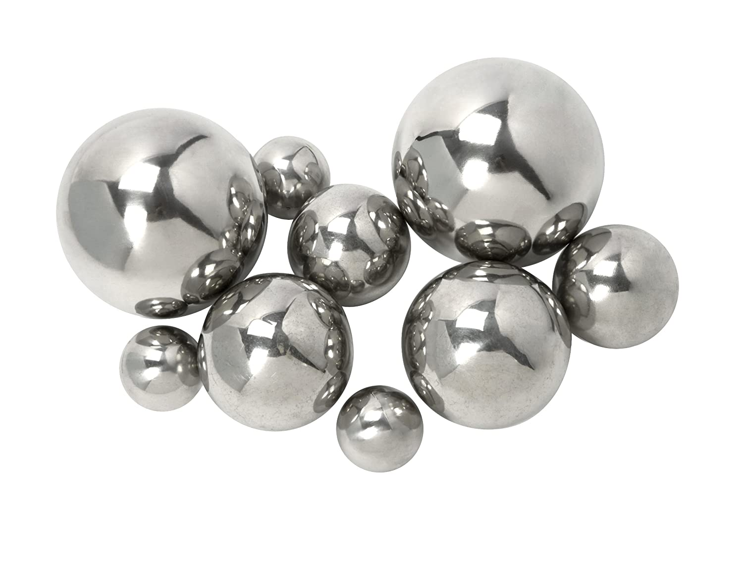 Amazon.com: Imax 10889-9 CKI Abbott Steel Decorative Ball, Set of 9 ...