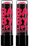 Gemey-Maybelline - BabyLips Electro - Baume à lèvres Rose - 6 strike a rose - Lot de 2
