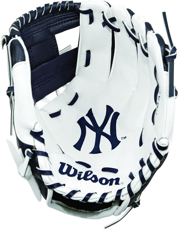 Wilson A200 MLB NYY Team Baseball/Softball, Unisex Juventud, Navy ...