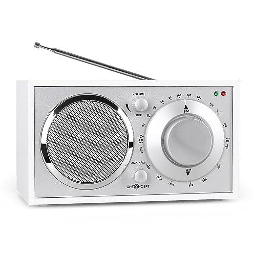 11 opinioni per OneConcept Lausanne Boombox stereo radio vintage portatile (Tuner FM, AM, AUX,