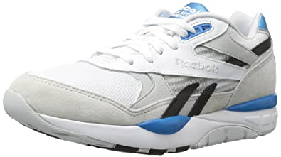 Reebok Mens Ventilator Supreme CLR Fashion Sneaker White/Skull Grey/Black/Azure 11