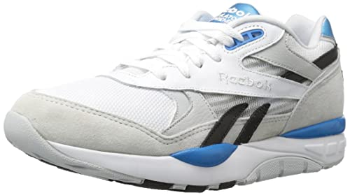 Reebok Mens Ventilator Supreme CLR Fashion Sneaker, White/Skull Grey/Black/Azure