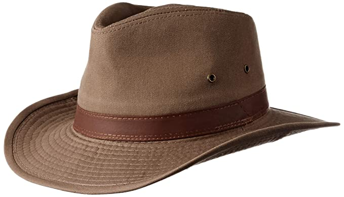 8241fdb25b7 Dorfman Pacific Men s Twill Outback Hat  Amazon.in  Clothing ...