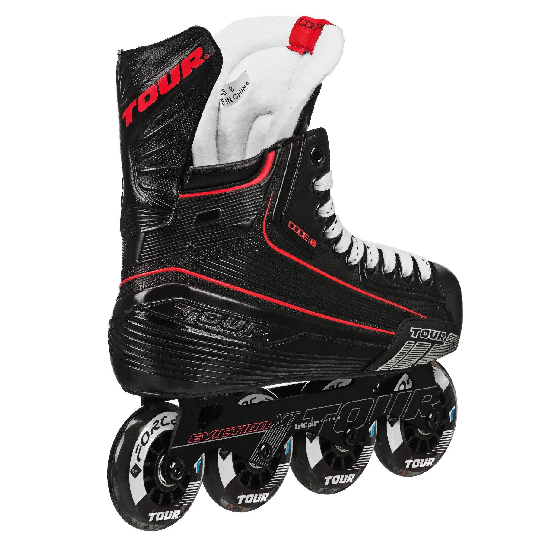 Tour Hockey Code 7 Junior Inline Hockey Skate, Black, 01 by Tour Hockey (Image #3)